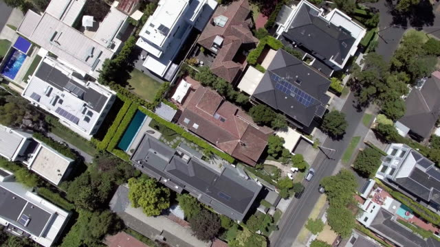 the wealthy suburb of toorak, melbourne australia. - house stock videos & royalty-free footage