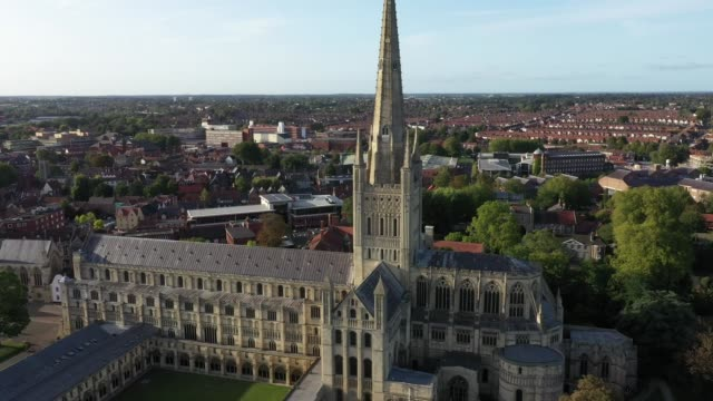 the weathercock at norwich cathedral is placed back in after being restored by father and son team chris and sam milford from historic building... - green stock videos & royalty-free footage