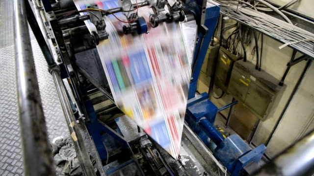 """the """"web offset press"""" is operated by the acredula group the umbrella company that owns the weekly newspaper the barnsley chronicle in barnsley the... - ジャーナリズム点の映像素材/bロール"""