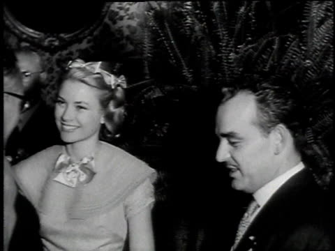 montage the wedding reception of grace kelly and prince rainier iii of monaco gifts / monaco - monaco stock-videos und b-roll-filmmaterial