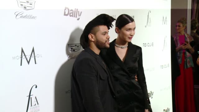 the weekend and bella hadid at the the daily front row hosts 2nd annual fashion los angeles awards at sunset tower on march 20 2016 in west hollywood... - bella hadid stock videos & royalty-free footage