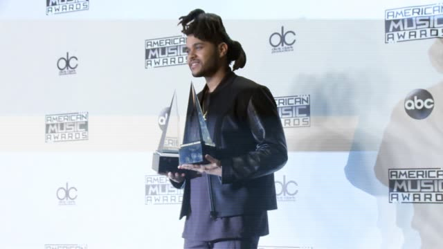 The Weeknd at 2015 American Music Awards in Los Angeles CA