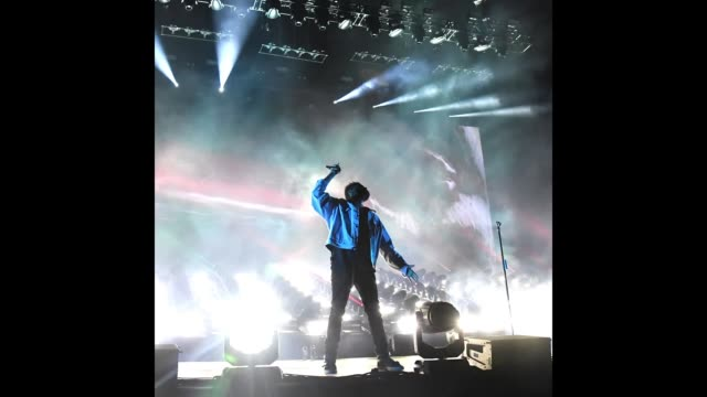 The Weeknd performs on Downtown Stage during the 2018 Life Is Beautiful Festival on September 21 2018 in Las Vegas Nevada