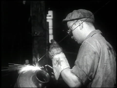 the welding operator - 4 of 10 - see other clips from this shoot 2484 stock videos & royalty-free footage