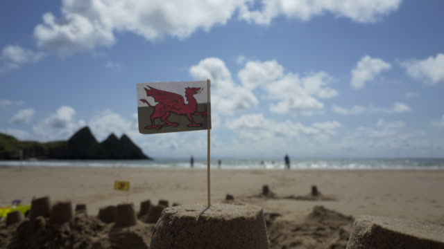 The Welsh Dragon Flag
