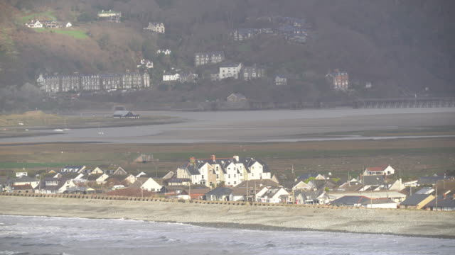 the welsh village of fairbourne in gwynedd which is under threat from climate change and rising seas causing coastal erosion on january 03 2020 in... - coastal feature stock videos & royalty-free footage