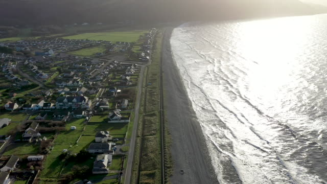 the welsh village of fairbourne in gwynedd which is under threat from climate change and rising seas causing coastal erosion on january 03 2020 in... - environmental conservation stock videos & royalty-free footage