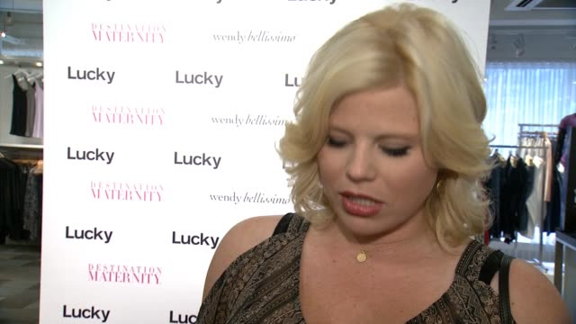 the wendy bellissimo for destination maternity launch event on august 26, 2014 in new york city. - megan hilty stock videos & royalty-free footage