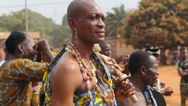 the west african country of benin celebrates national voodoo day a religion which was banned until the 1990s - benin stock videos and b-roll footage
