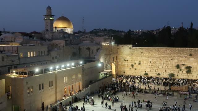 the western wall in jerusalem - twilight stock videos & royalty-free footage