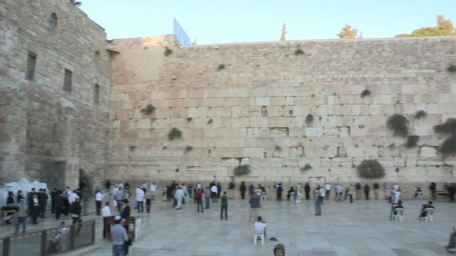 the western wall, jerusalem, israel - wailing wall stock videos & royalty-free footage