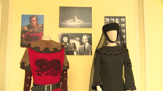 vídeos de stock e filmes b-roll de the westin palace hotel shows the exhibition of hollywood film costumes shot in spain in the 60s by sastrería cornejo. the exhibition shows some of... - ava gardner