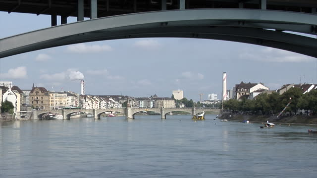The Wettsteinbrücke, and the Mittlere Brücke (Middle or Central Bridge). This is the oldest rhine bridge in Basel.
