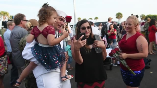 the whidbey islandclass amphibious dock landing ship uss fort mchenry arrives at naval station mayport florida after completing a scheduled... - whidbey island stock videos and b-roll footage