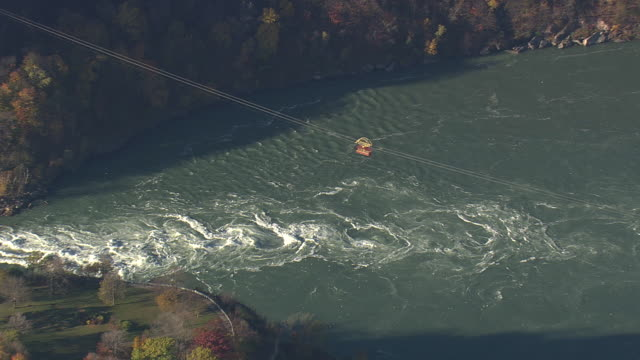 the whirlpool - fluss niagara river stock-videos und b-roll-filmmaterial