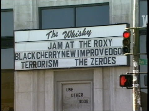 the whiskey a go go sign and exterior in la - sunset boulevard stock-videos und b-roll-filmmaterial