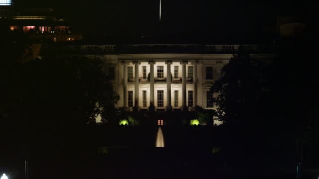 The White House at night. Shot in 2012.
