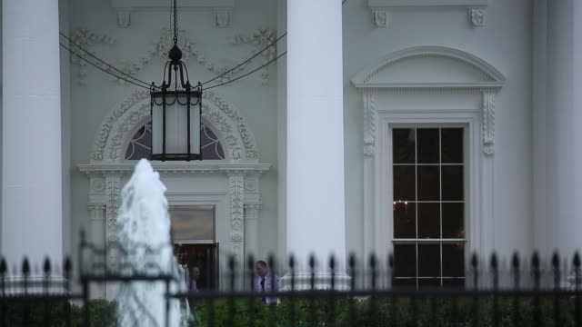 the white house exterior after sunrise in washington, d.c., u.s., on tuesday, october 16, 2018. - lawn stock videos & royalty-free footage