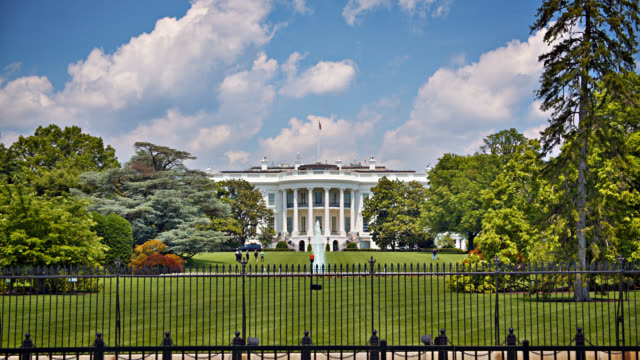 the white house. fountain. main view. - house stock videos & royalty-free footage