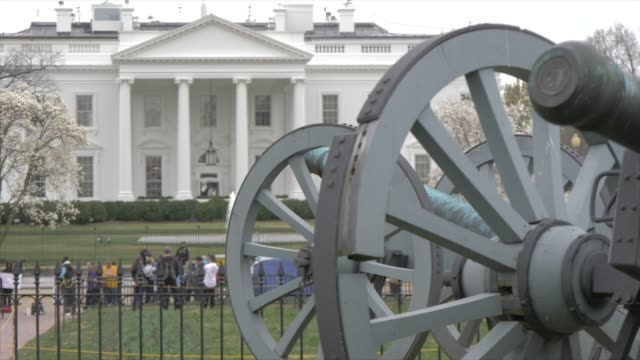 The White House from Lafayette Square, Washington DC, United States of America, North America