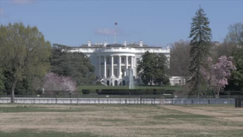 the white house from the ellipse, washington dc, united states of america, north america - white house washington dc stock videos & royalty-free footage