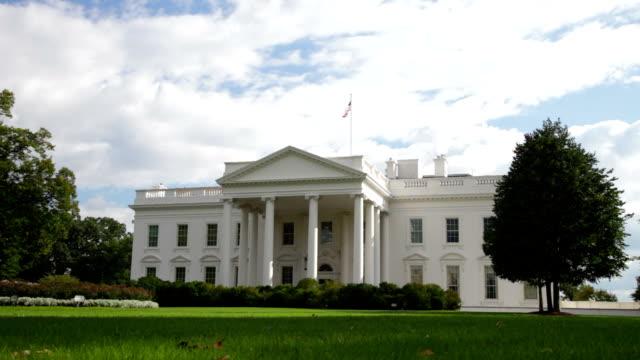 ホワイトハウス、ワシントン dc の米国大統領 - ワシントンdc ホワイトハウス点の映像素材/bロール