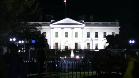 the white house is seen during the us presidential election night on november 8, 2016 in washington,dc. early results show democratic nominee hillary... - 2016 stock videos & royalty-free footage