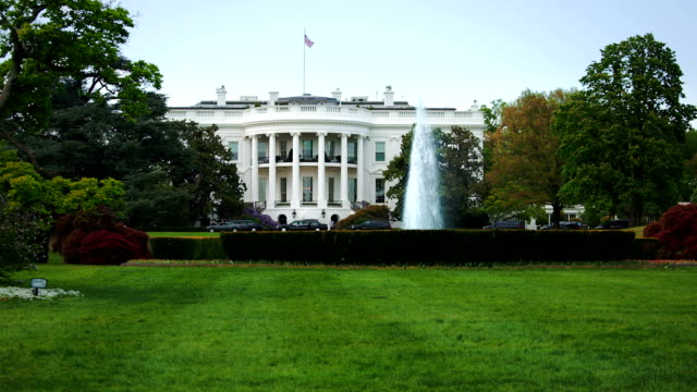 the white house on a beautiful summer day - president stock videos & royalty-free footage