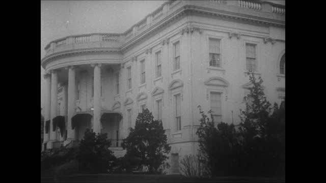 the white house, south lawn w/ fountain water on fg. angle on the white house side front. - 1917 stock videos & royalty-free footage