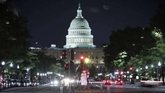 the white house time-lapse at night. - mid atlantic usa stock videos & royalty-free footage