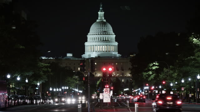 the white house time-lapse at night. - white house washington dc stock videos & royalty-free footage