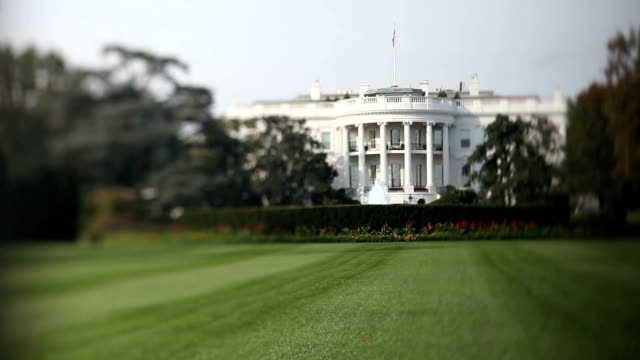 the white house (tilt shift lens) - white house washington dc stock videos & royalty-free footage