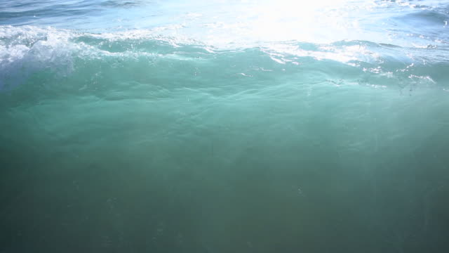 the whitewash of waves breaking in the surf at the beach. - slow motion - goodsportvideo stock videos and b-roll footage
