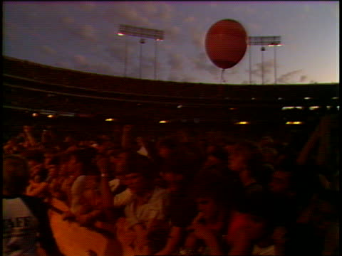 / The Who onstage at OaklandAlameda County Coliseum camera pans to the audience