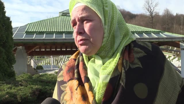 the widow of a srebrenica massacre victim says she has lived to see truth and justice after a un court ruled that former bosnian serbian commander... - ratko mladic stock videos & royalty-free footage