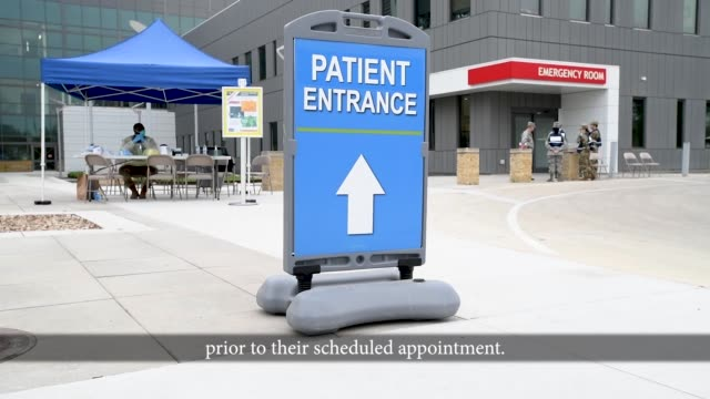 the wilford hall ambulatory surgical center has implemented three entry and exit control points with screening for all staff, volunteers and patients... - texas stock videos & royalty-free footage