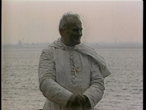 the wind blows on pope john paul ii. - pope stock videos & royalty-free footage