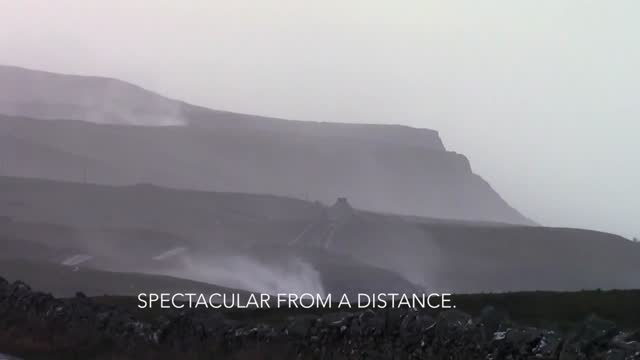 the winter storm that slammed into ireland last week created some spectacular images, particularly along the atlantic cliffs. in this footage, the... - waterfall stock videos & royalty-free footage