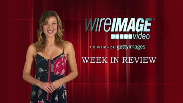 vídeos y material grabado en eventos de stock de the wireimage entertainment report week in review - gabriel aubry
