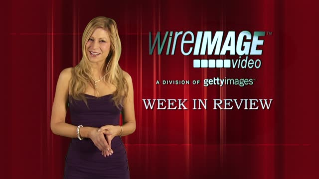 the wireimage entertainment report week in review 3/11/2010 - hilary swank stock videos & royalty-free footage