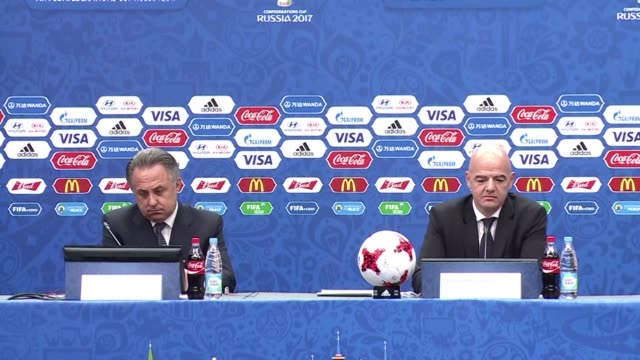 the wisdom of awarding russia the right to stage the 2018 world cup is coming under sharp scrutiny in kazan at the draw for next years confederations... - kazan russia stock videos and b-roll footage
