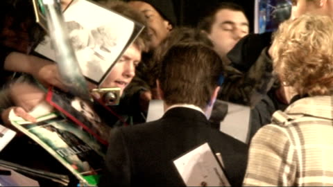 'the woman in black' film premiere: arrivals and interviews; mark wright gvs / daniel radcliffe gvs - signing autographs jane goldman interviewed by... - ジェーン ゴールドマン点の映像素材/bロール