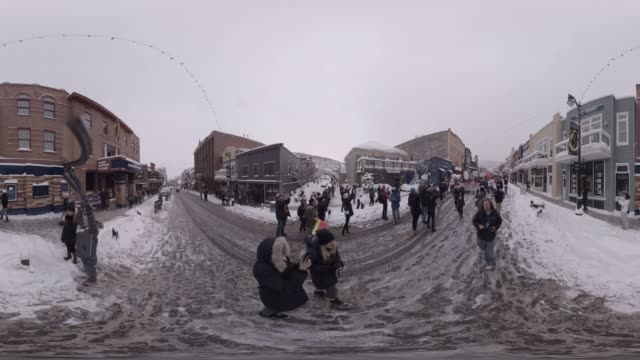 the women's march on main at the 2017 sundance film festival - park city utah video stock e b–roll