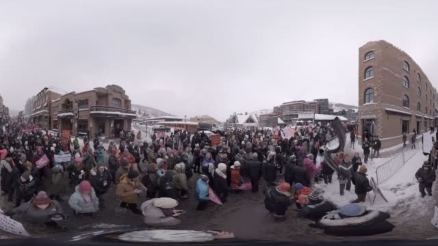 stockvideo's en b-roll-footage met the women's march on main at the 2017 sundance film festival - sundance film festival