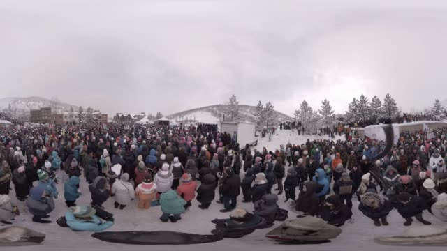 the women's march on main at the 2017 sundance film festival - sundance film festival stock videos & royalty-free footage