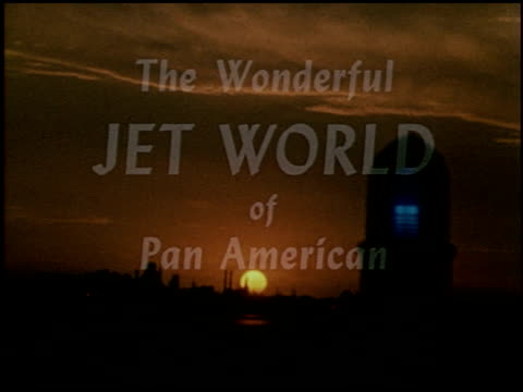 the wonderful jet world of pan american - 2 of 23 - see other clips from this shoot 2488 stock videos and b-roll footage
