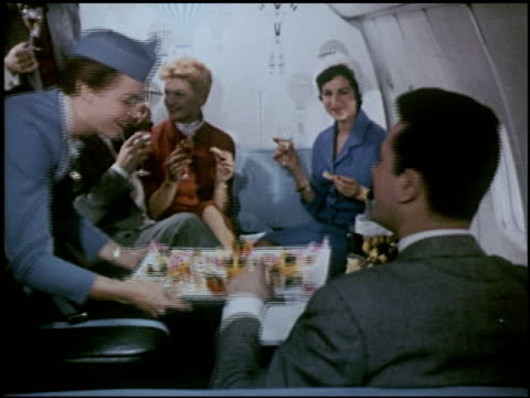 vídeos de stock e filmes b-roll de the wonderful jet world of pan american - 23 of 23 - 1950 1959