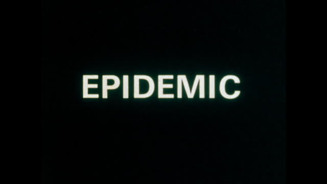 the word 'epidemic' in white on black background ; 1973 - single word stock videos & royalty-free footage