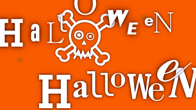 The Word 'Halloween' coming and going (Loopable)