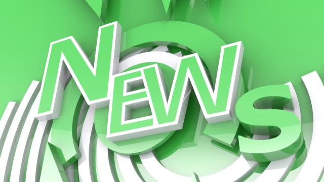 The Word NEWS in Green and White (2 versions)